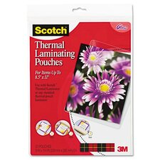 Scotch Letter Size Thermal Laminating Pouches, 20/Pack