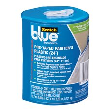 """24"""" x 30 Yards Plastic Pre-Taped Painter's with Dispenser"""