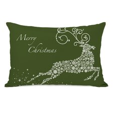 Holiday Snowflake Reindeer Lumbar Pillow