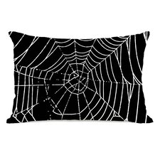 All Over Spider Webs Throw Pillow
