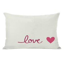 Love Heart Lumbar Pillow