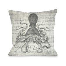 Vintage Octopus Throw Pillow