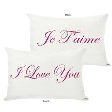Je T'aime/I Love You Reversible Lumbar Pillow