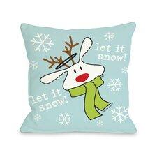 Doggy Décor Let it Snow Dog Throw Pillow