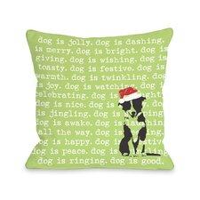 Doggy Décor Dogisms Holiday Throw Pillow