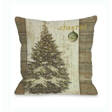 Cheers Tree Throw Pillow