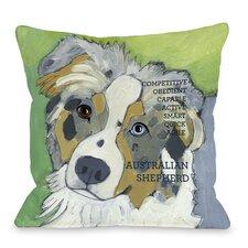 Doggy Décor Australian Sheep Dog Throw Pillow
