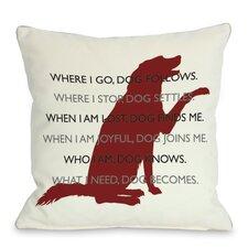 Doggy Décor Dog.Codependent Throw Pillow