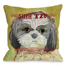 Doggy Décor Shih Tzu Throw Pillow