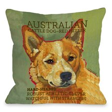 Doggy Décor Austrialian Cattle 2 Dog Throw Pillow