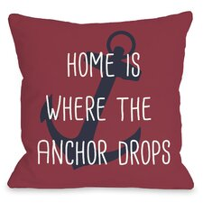 Anchor Drops Throw Pillow