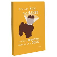 Doggy Decor Fun and Games Small Graphic Art on Wrapped Canvas