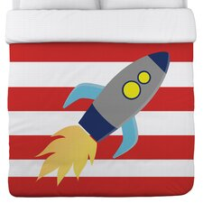 Rocketship Duvet Cover