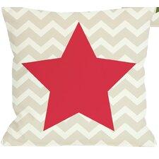 Chevron Star Reversible Throw Pillow