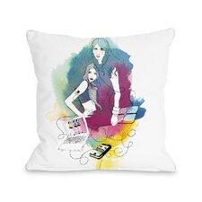 Tech Beauty Throw Pillow