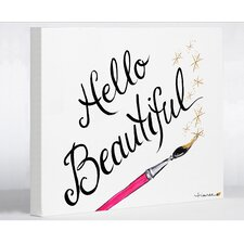Hello Beautiful Sparkles by Timree Graphic Art on Wrapped Canvas