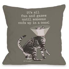 Fun and Games Throw Pillow