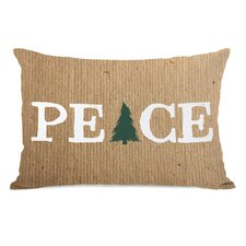 Peace Tree Paper Lumbar Pillow