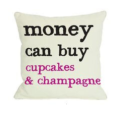 Money Can't Buy/Can Buy Reversible Throw Pillow