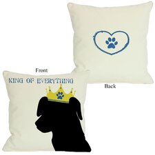 Doggy Décor King of Everything Lab Throw Pillow