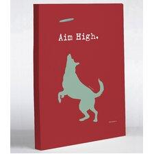 Doggy Decor Aim High Dog Graphic Art on Wrapped Canvas