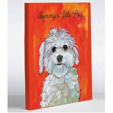 Doggy Decor Mommy's Little Boy Graphic Art on Wrapped Canvas