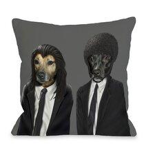 Pets Rock Hit Dogs Throw Pillow