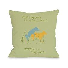 Doggy Décor Dog Park Throw Pillow