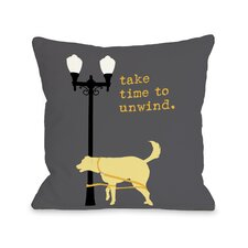 Doggy Décor Unwind Dog Throw Pillow