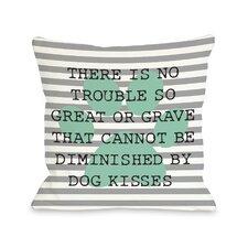 Doggy Décor No Trouble Dog Kisses Stripe Paw Lumbar Pillow