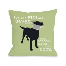 Doggy Décor Its All Fun and Games Throw Pillow