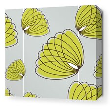 Aequorea Lotus Graphic Art on Wrapped Canvas in Silver and Grass