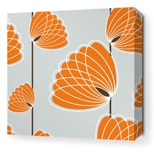 Aequorea Lotus Graphic Art on Wrapped Canvas in Silver and Sunshine