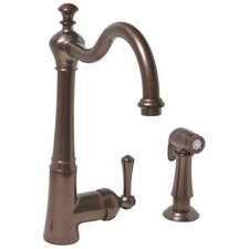 Single Lever Handle Centerset Kitchen Faucet with Sprayer