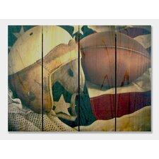 Leather Head  Full Color Cedar Wall Art