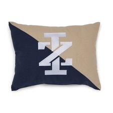 Classic Stripe IZ Logo Embroidered Throw Pillow