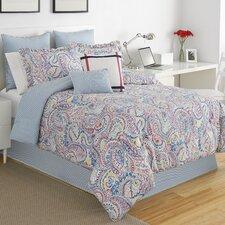 Winward Paisley Stripe Comforter Set