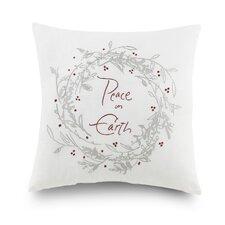 Kathy Davis Peace on Earth Cotton Throw Pillow