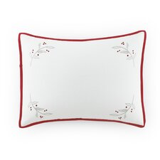 Kathy Davis Peace on Earth Holiday Berries Breakfast Cotton Throw Pillow