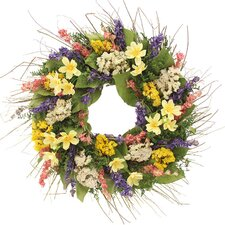 "Sunny Cosmos 16"" Natural Elements Wreath"