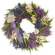 Violet Patchwork Garden Wreath