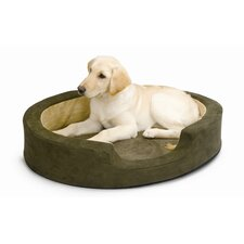 Snuggly Sleeper Heated Bolster Dog Bed