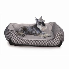 Self Warming Lounge Sleeper Bolster Dog Bed