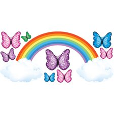 Butterflies Rainbow Really Big Wall Decal