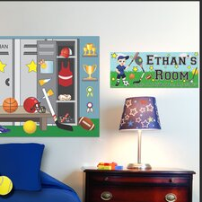 Sports Boy Name Wall Decal