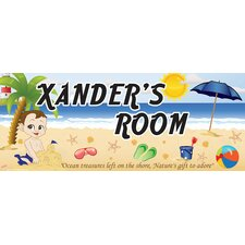 Personalized Beach Boy Name Wall Decal