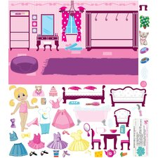 Dollhouse Friends Wall Decal