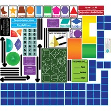 Educational Peel, Play and Learn Geometry Wall Play Set