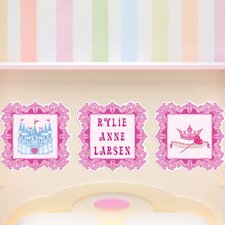 3 Piece Princess Picture Frame Wall Decal