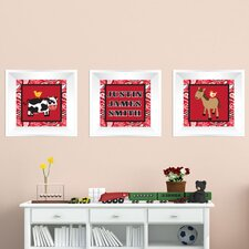 3 Piece Farm Picture Frame Wall Decal